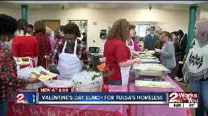 Valentine's Day lunch held at Tulsa Day Center for Homeless [Video]
