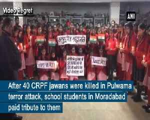 Pulwama terror attack School students pay tribute to CRPF jawans in UPs Moradabad [Video]