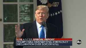 President Trump declares national emergency over border security [Video]