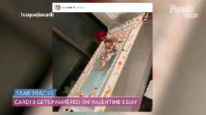 Cardi B Shows Off Romantic Valentine's Day - Complete with Diamonds and a Strip Club Visit [Video]