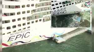 Cruise Ship Filmed Crashing Into Pier In Puerto Rico [Video]
