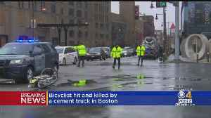 Woman Dies After Being Hit By Cement Truck Near Emmanuel College [Video]