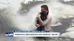 News video: Man rescues dog from ice waters off Ellicott Creek Bark Park