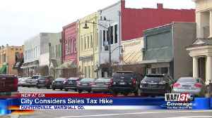 City considers sales tax hike [Video]