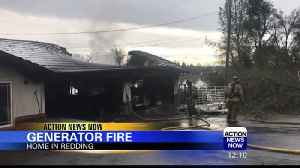 Redding house fire [Video]