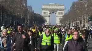 Paris: Clashes marked third month of 'Gilets Jaunes' protests [Video]