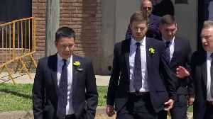 News video: Cardiff City coach arrives for Emiliano Sala's funeral