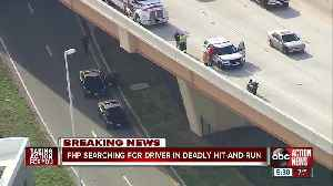 2 motorcycles collide in fatal hit-and-run, motorcyclist falls from overpass [Video]