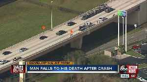 Motorcyclist falls from Tampa overpass after colliding with another motorcycle in fatal hit-and-run [Video]
