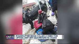 Local powerlifter lifts vehicle off man trapped underneath after accident [Video]