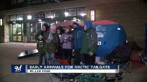 Just warm enough: The Brewers Arctic Tailgate goes on despite subzero temps [Video]