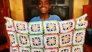 Inspiring 11-year-old crochets for a good cause [Video]