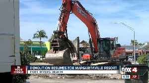 Second building razed to make way for Margaritaville resort on Fort Myers Beach [Video]