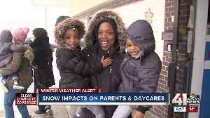 Snow impacts on parents and daycares [Video]
