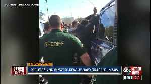 Inmates in Pasco County jump into action and help deputies rescue baby from locked car [Video]