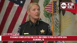 News video: Officials: 5 dead, 5 police wounded in Illinois workplace shooting
