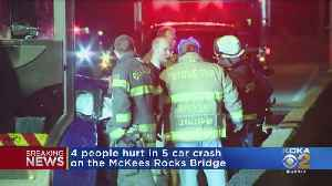 5-Vehicle Crash On McKees Rocks Bridge Sends 4 To Hospital [Video]