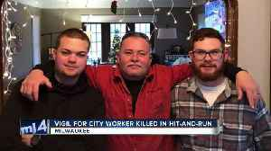Community honors fallen DPW worker during city hall vigil [Video]