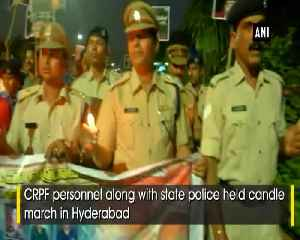CRPF Police stage protest in Hyderabad [Video]