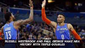 These Basketball Stars Break Records For Triple Doubles [Video]