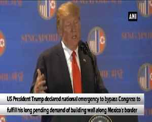 News video: Donald Trump declares national emergency over building Mexico wall
