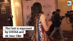 Sara Ali Khan attends CINTAAs ActFest as Guest of Honour [Video]