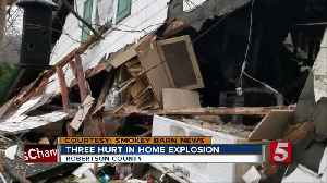 Home explodes in Robertson County; gas possibly left on [Video]
