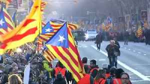 Thousands march in support of Catalan separatists leaders in jail [Video]