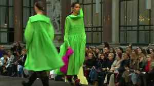 Molly Goddard brings tulle and shocking pink to London Fashion Week [Video]