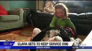 Little girl with rare liver disease gets to keep service dog thanks to community support [Video]