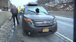 VIDEO: Motorists react to debris accident on I-476 [Video]