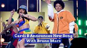 Cardi B Creates A New Song With Bruno Mars [Video]