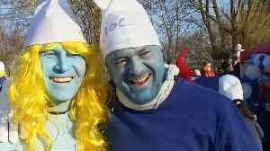 Guinness World Records: German town 'holds largest-ever Smurfs meeting' [Video]