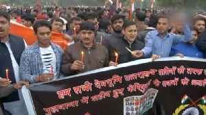 People gather at India Gate to pay tribute to slain soldiers at Connaught Place [Video]