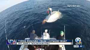 3 people rescued from capsized boat near John D. MacArthur State Park [Video]