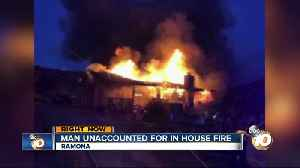 Man unaccounted for in Ramona house fire [Video]