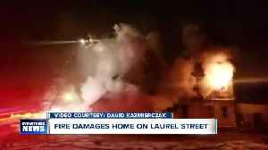 Unoccupied Laurel Street home goes up in flames [Video]