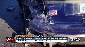 NHP Trooper's vehicle hit by a suspected DUI driver [Video]
