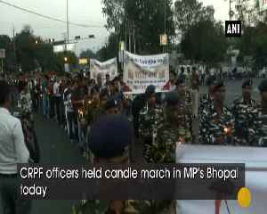 CRPF jawans hold candle march in Bhopal [Video]