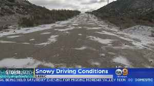Conditions Along Grapevine Smooth Despite Snowy Driving Conditions [Video]