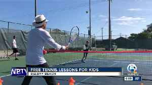 Free tennis lessons for kids in Delray Beach [Video]
