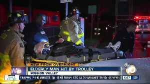 Elderly man struck by trolley train [Video]
