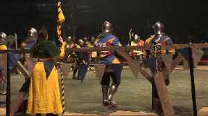 "Most gallant ""knights"" battle in Monaco's medieval combat tournament [Video]"