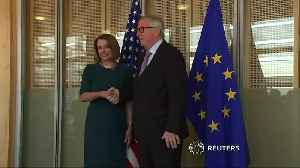 U.S. House Speaker Pelosi meets EU's Juncker [Video]