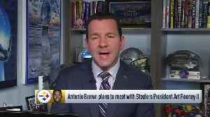 NFL Network Insider Ian Rapoport: Pittsburgh Steelers wide receiver Antonio Brown plans to meet with team owner Art Rooney II ah [Video]