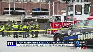 Man Killed After Port-A-Potties Caught On Fire [Video]