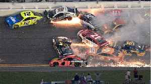 News video: Nearly Half of Daytona 500 Racers involved in Crash