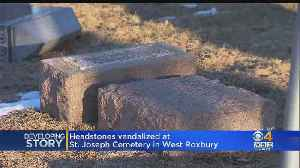 Cemetery Vandalized In West Roxbury [Video]