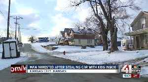Children safe, suspect in custody after armed kidnapping, carjacking in KCK [Video]