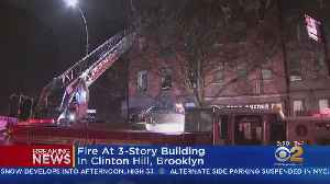 Firefighters Battle Fast-Moving Fire In BK [Video]